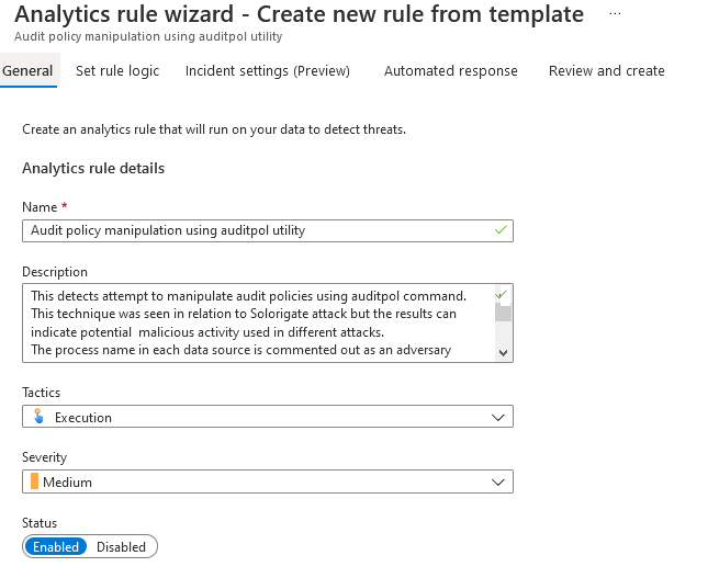 azure sentinel analytic rules